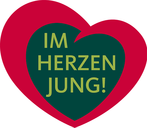 Logo im Herzen jung